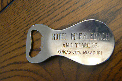 HOTEL MUEHLEBACH AND TOWERS Kansas City Missouri Bottle Opener Shoe Horn Vaughan