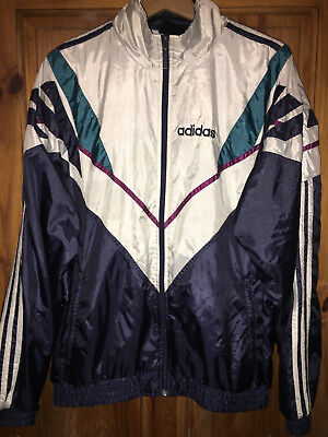 Adidas vintage 80's/90's tracksuit shell top size uk 42-44