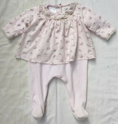 Petit Bateau Spanish Romany Traditional Baby Girls Babygrow and Smock 3-6m Pink
