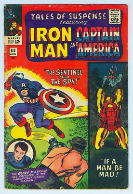August 1965 Tales Of Suspense Iron Man Captain America No. 68 Comic Book