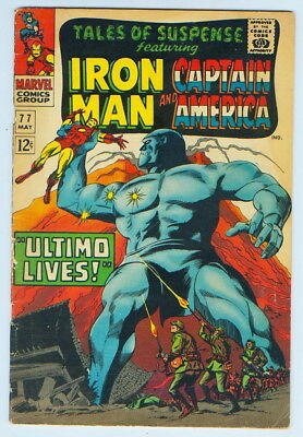 May 1966 Tales Of Suspense Iron Man Captain America No. 77 Comic Book