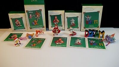Hallmark Lot of 5 Miniature Christmas Series Ornaments New in Boxes  2002 - 2004