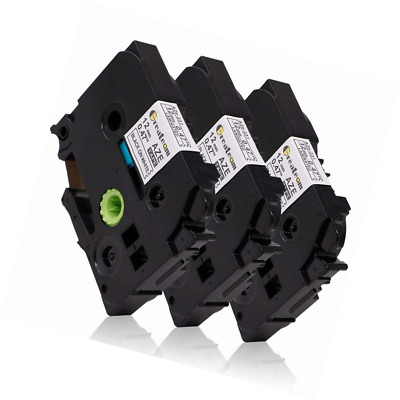 3 Pack Compatible Brother P-touch Label Tape 12mm 0.47 inch, Ptouch Maker TZ TZe