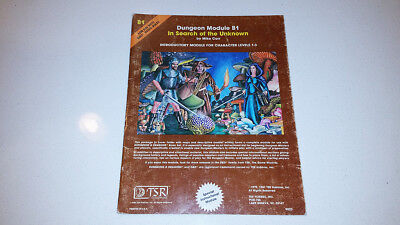 In Search of the Unknown B1 Dungeons & Dragons D&D Module TSR 1980