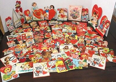 Vintage Lot of 77 1940s 1950's Valentine Day Greeting Cards Card Lot 40's 50's