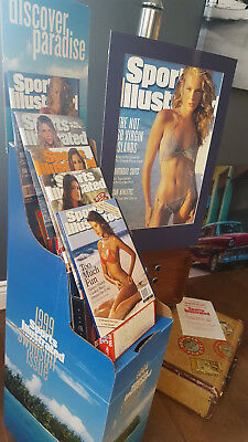 Sports Illustrated Swimsuit  Lot* 1 Poster*1Display Stand* 5 Gem Mint Covers++!!