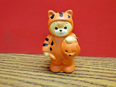 Lucy & Me ~ CAT ~ Rigg Teddy Bear Porcelain Figurine