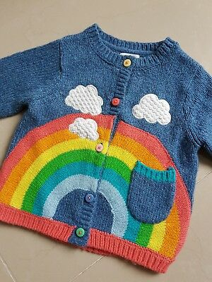 NEXT girls rainbow cloud cardigan age 1.5-2yrs
