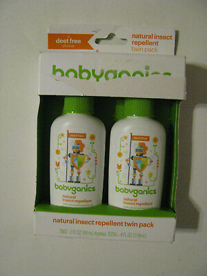 Babyganics Natural Insect Repellent Mineral-Based SPF 50 Sunscreen 4 Oz NEW