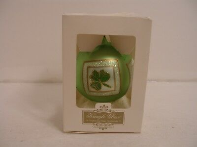 God bless our Irish home Irish Blessing Christmas glass Ornament box, KURT ADLER