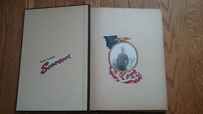 WWII US Army NAMED Soldier's Photo Album Scrapbook 60+ Pages