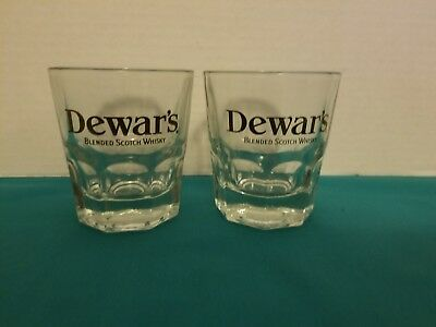 Dewar's Blended Scotch Whisky Set of 2 Rocks Style Cocktail Glasses 5 oz.