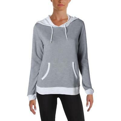 Champion Womens Gray Fitness Workout Hooded Sweatshirt Athletic S BHFO 1837