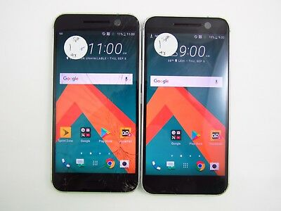 Lot of 2 Cracked HTC 10 2PS6400 Sprint Check IMEI 5CR 440