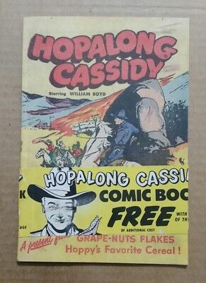 Hopalong Cassidy Comic Book,Grape-Nuts Flakes Cereal Premium,1950