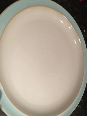 "Denby Blue Linen 10.5"" dinner plate good used condition"