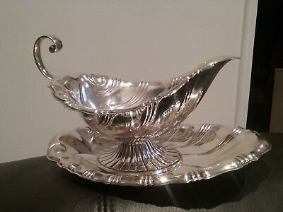Rogers & Bros Silver Plate Gravy Sauce Boat Dish Bowl #9313