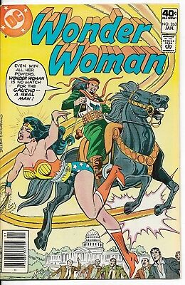 1980 Wonder Woman Issue #263 Dc Comic Book Bag/board Vintage Rare