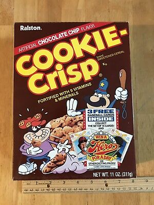 Vintage Ralston Cookie Crisp 11 oz Empty Cereal Box, 1987, w/ Ozzie Smith SS
