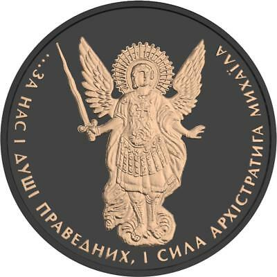 Ukraine 2015 1 Grivna Archangel Michael Ruthenium 1 Oz Silver Coin
