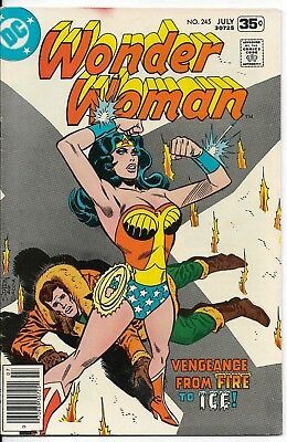 1978 Wonder Woman Issue #245 Dc Comic Book Bag/board Vintage Rare