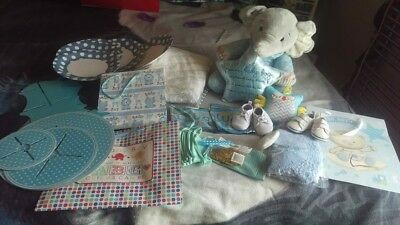 New Big  Born Baby Boy Gifts Baby Shower Bundle