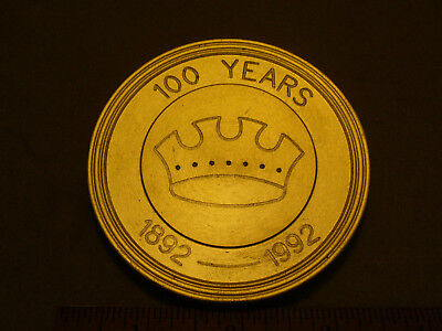 Crown Cork & Seal Baltimore 1892-1992 100 Years Brass Metal Paperweight Coaster