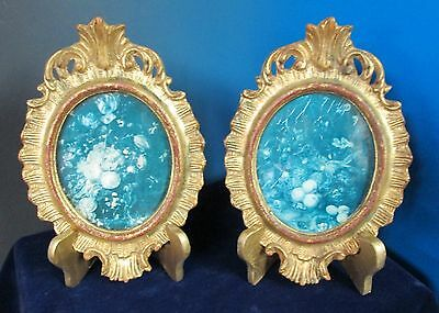 Matched Pair Italian Carved Wooden Frames ROCOCO Style Shells