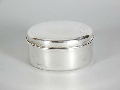 "Tiffany & Co 2 3/8"" Sterling Silver Trinket Box with Felt Lined Interior"