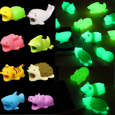 For iPhone XS / XS Max / Samsung Animal Cable Protector Saver Case Luminous Lot