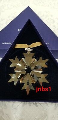 Swarovski 2018 SCS GOLD CHRISTMAS ORNAMENT **NEW** ANNUAL EDITION 5357982 X-MAS