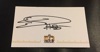 ERIC EBRON #85 SIGNED AUTOGRAPHED SUPER BOWL 50 CARD (3 X 5 Inch)