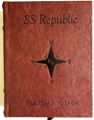 Ss Republic Red/ Brown Faux Leather Display Book For Your  Ssr Shipwreck Coins