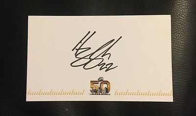 HARRISON SMITH #22 SIGNED AUTOGRAPHED SUPER BOWL 50 CARD (3 X 5 Inch)