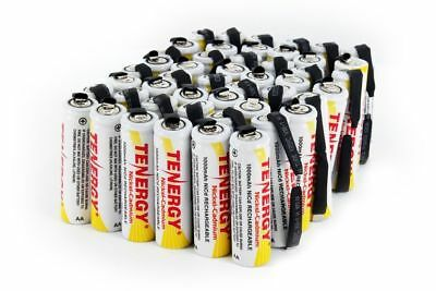 Tenergy AA 1000mAh Capacity NiCd Rechargeable Batteries Cell Flat Top w/ tab Lot