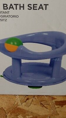 Baby Newborn Infant Water Tub Bath Support Pad Seat Safety 1st Swivel Pastel