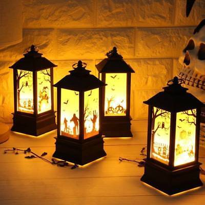 2018 Halloween Vintage Pumpkin Castle Light Lamp Party Hanging Deco LED Lantern