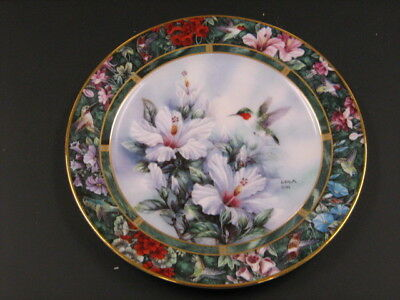Lena Liu Hummingbird Plate - Issue #1 - Ruby Throated -Excellent - W. S. George