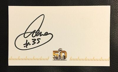AENEAS WILLIAMS #35 SIGNED AUTOGRAPHED SUPER BOWL 50 CARD (3 X 5 Inch)