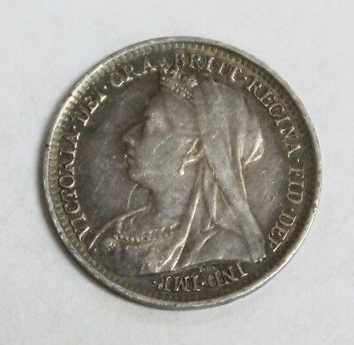 1897 Great Britain 3 Pence KM #777 - Highly Collectible Silver Coin