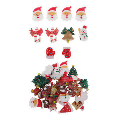 10/30 CHRISTMAS CABOCHONS Resin Flat Back Embellishment for Phonecover Craft