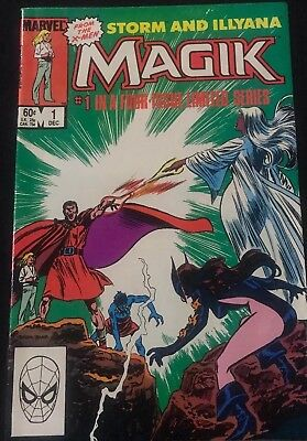 Magik 1, 2, 3, And  4 Dec Jan Feb Mar 1983 Complete Four Issue Series