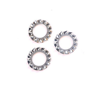 100 Pcs Stainless Steel External Serrated Shake-proof Washers Lock Washer HC