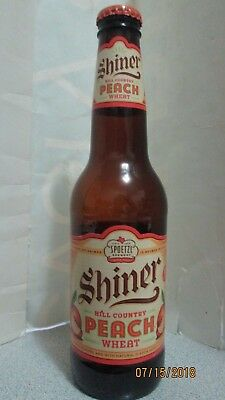 Shiner Hill Country Peach Wheat Beer Bottle