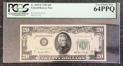 1950 $20 FRN - Chicago - PCGS CU 64 PPQ Fr. 2059-G (Federal Reserve Note)