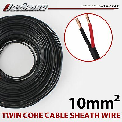 10mm Twin Core Cable Wire Dual Battery 2 Sheath Automotive Trailer 4x4 7AWG 7B&S