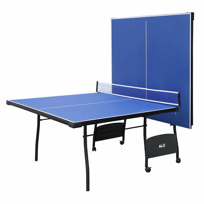 HLC Indoor Folding Table tennis Table Blue Full Size Ping Pong Table with Net