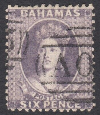 Bahamas SG19 1862 6d used Cat £475
