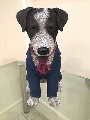 """Doug Hyde Sculpture, """"Suited and Booted"""", Jack Russell, Dog Art, Top Hat & Tails"""