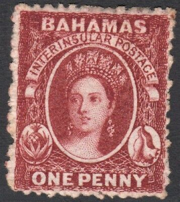 Bahamas SG17 1862 1d MINT Hinged Cat £750